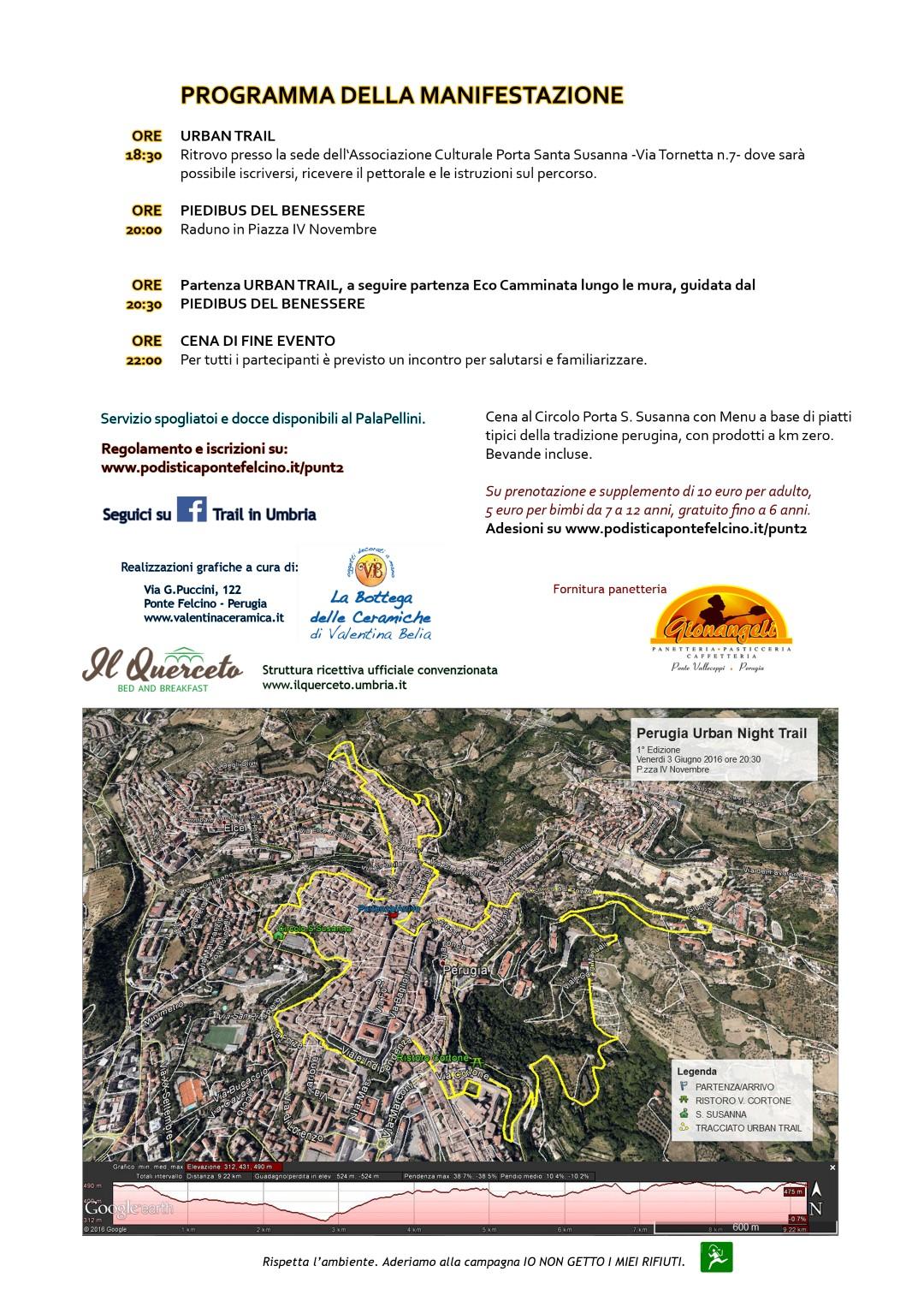 Perugia urban night trail 2 edizione podistica ponte for Volantino risparmio casa perugia